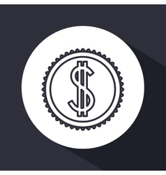 money concept flat design vector image
