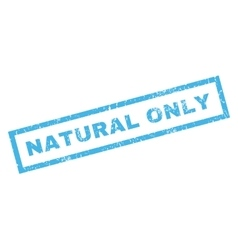 Natural Only Rubber Stamp vector
