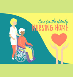 Nursing home care for people with disabilities vector