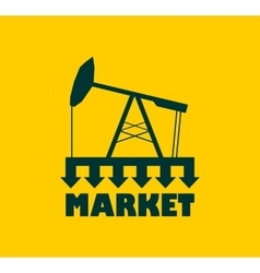 Oil pump with arrows Market under pressure vector image