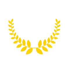 Olive branch is golden wreath symbol of victory vector
