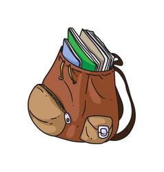 open backpack vector image
