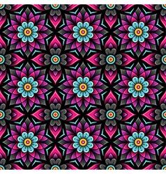 Pattern rosette black vector