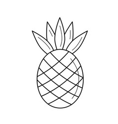 pineapple line icon vector image