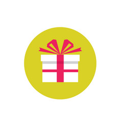 present gift - concept colored icon in flat graph vector image