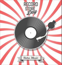 retro vinyl record store day background vector image