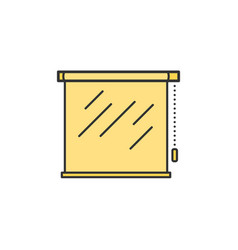 Roller shutters blinds jalousie thin line icon vector