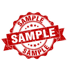 Sample stamp sign seal vector