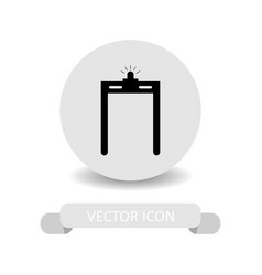 security gate icon vector image