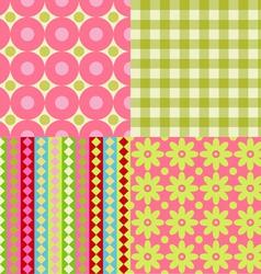 Set of Scrapbook Backgrounds vector