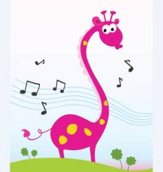 singing giraffe vector image