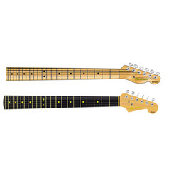 Single coil guitar necks vector