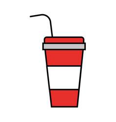 soda plastic container icon vector image