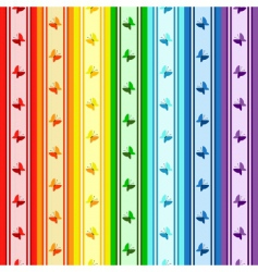 Striped rainbow pattern vector