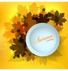 Stylish Autumn seasonal card design with bokeh vector image