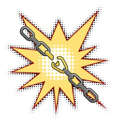 the broken chain vector image