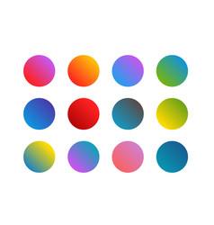 Trendy gradient background set vector