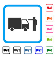 truck customer framed icon vector image