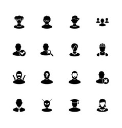 Users avatar - flat icons vector