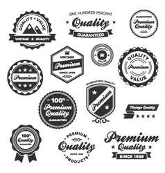 Vintage quality labels vector
