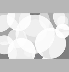 white grey circle abstract background vector image