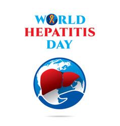 World hepatitis day poster vector