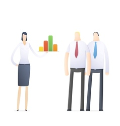 young business woman making presentation vector image