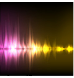 Abstract equalizer background purple-yellow wave vector
