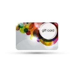 Bubble gift card design vector