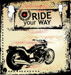 ride your way background vector image vector image