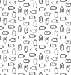 Battery pattern seamless vector image vector image