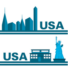 Beautiful statue of liberty in new work city vector