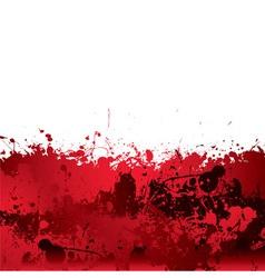 Blood splatter background vector image