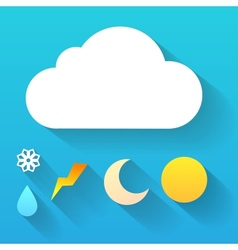 Day cloud and collection of signs isolated on blue vector
