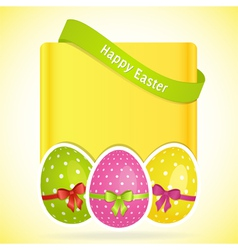 Easter egg background with banner vector image vector image
