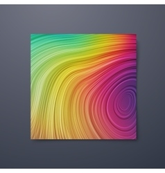Poster design template with swirled iridescent vector image vector image