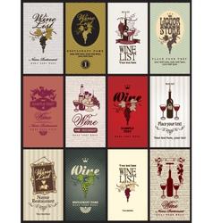 set wine vector image vector image