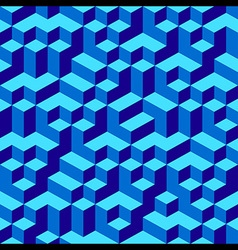 Blue Geometric Volume Seamless Pattern Background vector image vector image