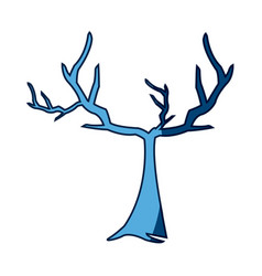 blue tree withered branching free spirit rustic vector image vector image