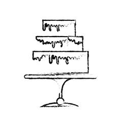 Embellished cake icon image vector