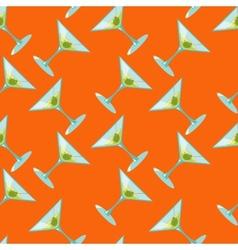 Martini seamless pattern vector image