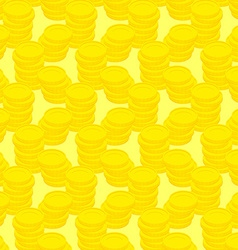Pile gold coins seamless pattern money background vector image vector image