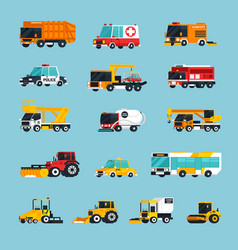 special and emergency transport infographics vector image