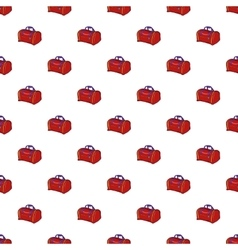 Bag pattern cartoon style vector image