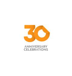 30 years anniversary celebration logo icon vector