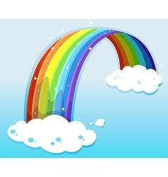 A sky with a sparkling rainbow vector