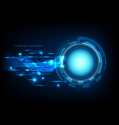 abstract technology blue circle light beam and vector image
