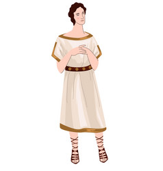 Ancient greece character man in antique clothes vector