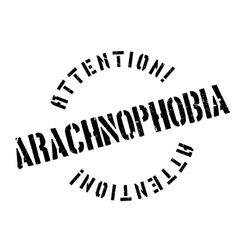 Arachnophobia rubber stamp vector image