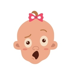 Baby facial expression vector image